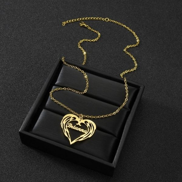 Special heartbeat Golden Name Necklace collection 2021