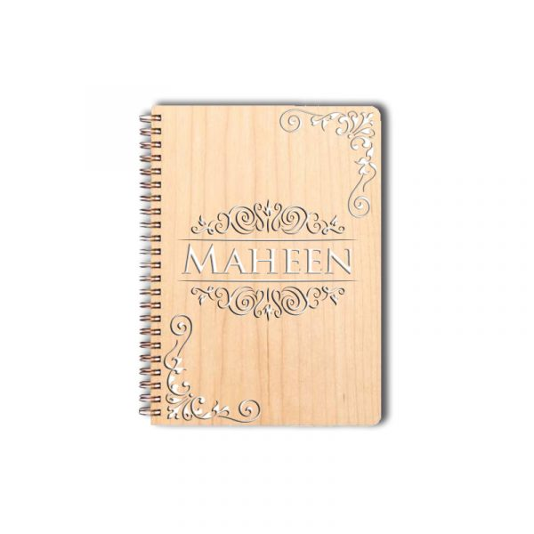 3D Personalized Name Wooden Notebook