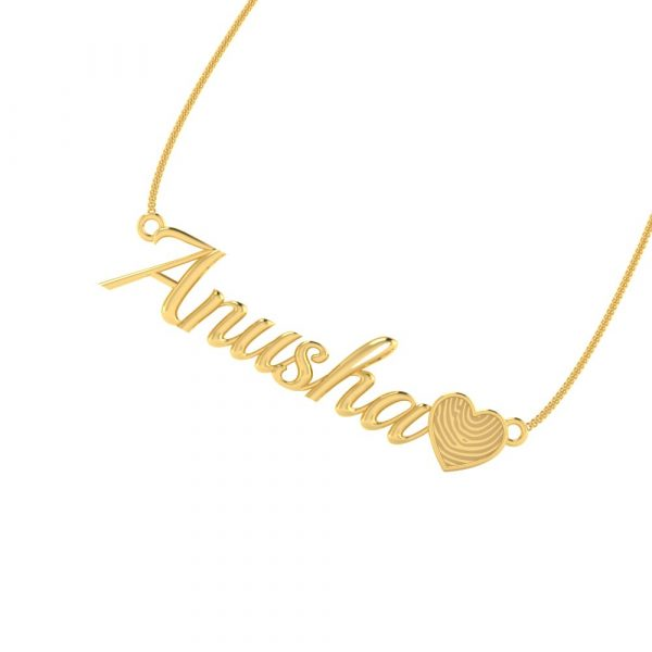 personalized Heart Shape Name Necklace