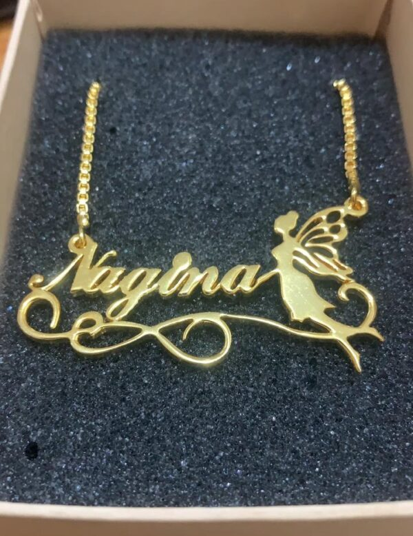 Stylish pari Design latest Name Necklace