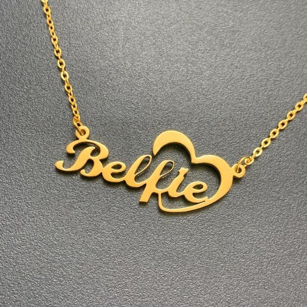 Elegant Look Golden Necklace with Gift Box