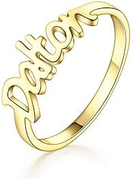 Luxury Personalized Fashion Crystal Engraved Ring Latest Collection