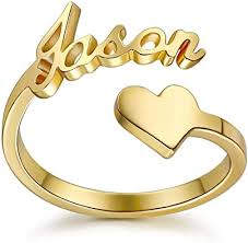 Personalized engraved rings for him Forever Gifts