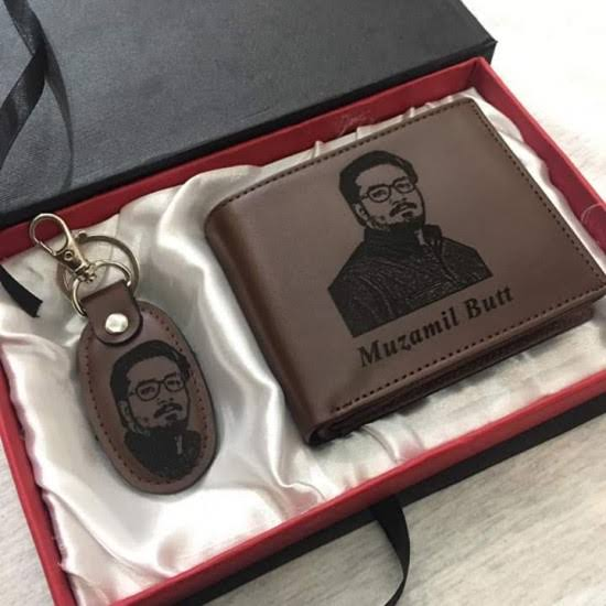 CUSTOMIZED NAME ON WALLET &KEY CHAINSWITH BOX