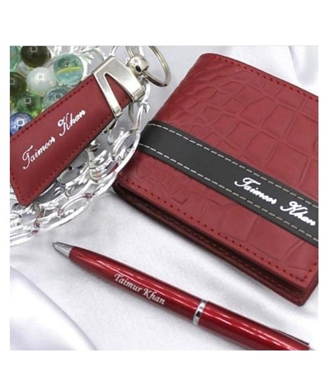 latest Design your Own Customized Picture And Name Gift Pack Of Wallet Keychain And Pen