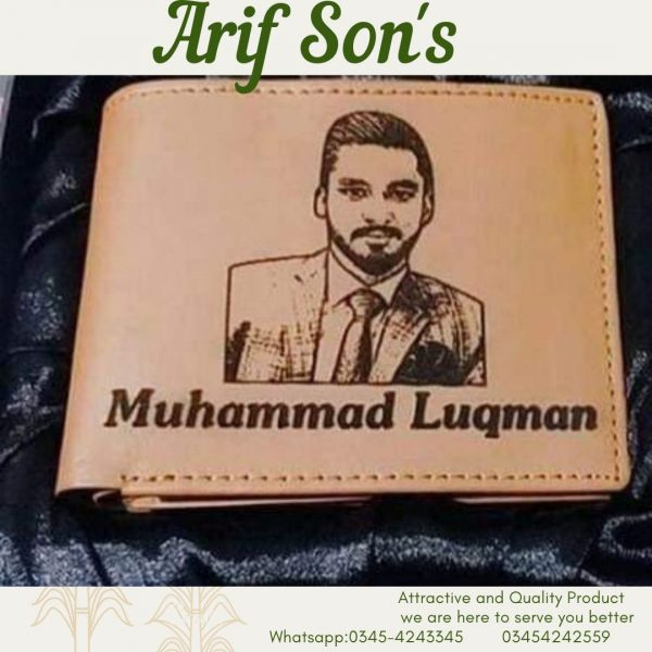 Wallet and keychain with your name and picture.