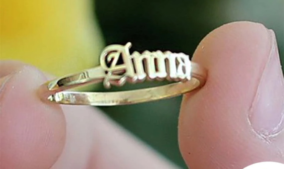 Why Celebrities Are Obsessed With Name Ring Gold Engraved Ring