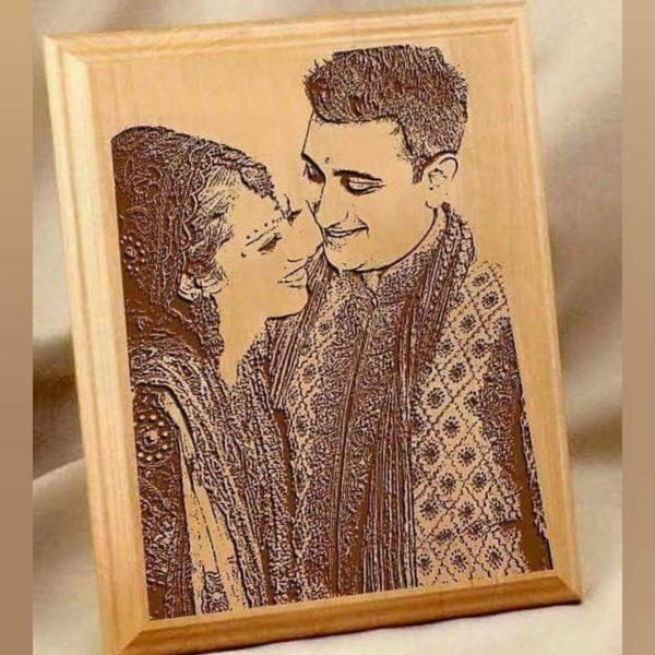 wooden frame Couple Anniversarry