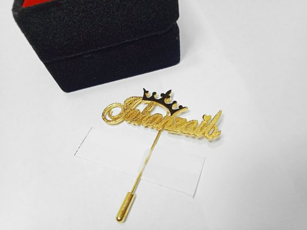 Customized Name coat brooch