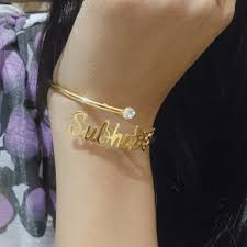 Customized bracelet - gold bangles - wearing your Style