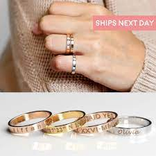 stackable name rings - ready to own it